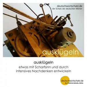 ausklügeln - Wortschatz Deutsch Bilder