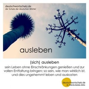 ausleben - Wortschatz Deutsch Bilder