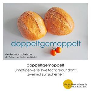 doppeltgemoppelt - doppelt gemoppelt - Wortschatz Deutsch Bilder