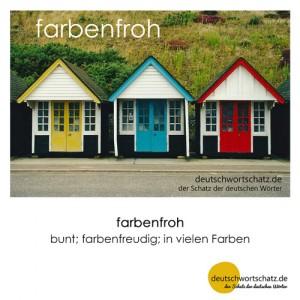 farbenfroh - Wortschatz Deutsch Bilder