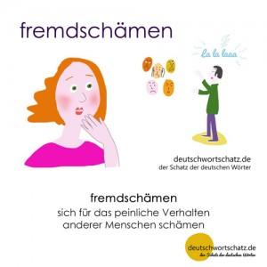 fremdschämen - Wortschatz Deutsch Bilder