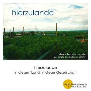 hierzulande - Wortschatz Deutsch Bilder