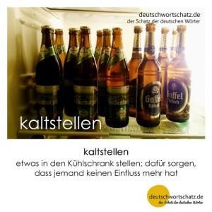 kaltstellen - Wortschatz Deutsch Bilder