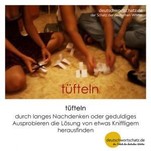 tüfteln - Wortschatz Deutsch Bilder