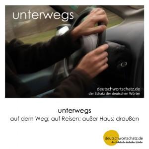 unterwegs - Wortschatz Deutsch Bilder