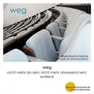 weg - Wortschatz Deutsch Bilder