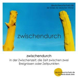 zwischendurch - Wortschatz Deutsch Bilder