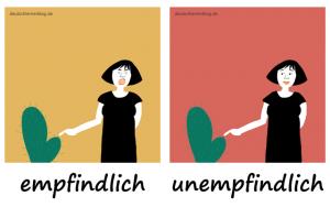 empfindlich-unempfindlich-Adjektive-Deutsch deutschlernerblog