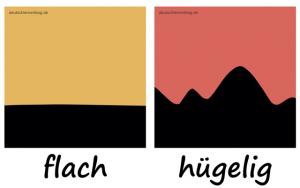 flach hügelig Adjektive Gegensatzpaare deutschlernerblog-640