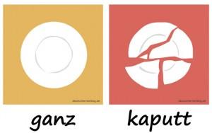ganz - kaputt - Adjektive - Gegensatzpaare