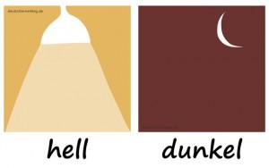 hell - dunkel - Adjektive - Gegensatzpaare