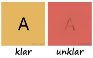 klar - unklar - Adjektive - Gegensatzpaare