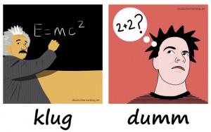 klug - dumm - Adjektive - Gegensatzpaare