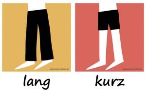 lang - kurz - Adjektive - Gegensatzpaare
