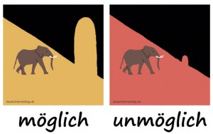 möglich - unmöglich - Adjektive - Gegensatzpaare