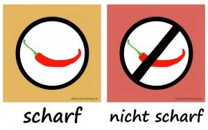 scharf - nicht_scharf - Adjektive - Gegensatzpaare
