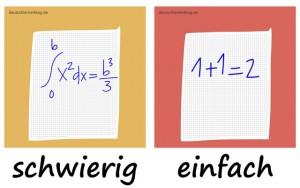 schwierig - einfach - Adjektive - Gegensatzpaare