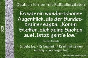 Deutsch lernen mit Fußballerzitaten 020 Sachen ausziehen jetzt gehts los 640x427 70