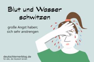 Blut-und-Wasser-schwitzen-Redewendungen-deutschlernerblog