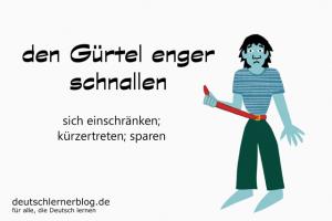 Gürtel-enger-schnallen-Redewendungen-Redensarten-Bilder-deutschlernerblog