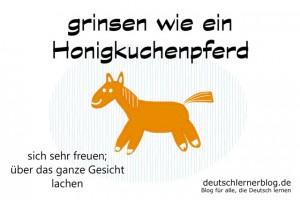 Honigkuchenpferd - Redewendungen Bilder deutschlernerblog