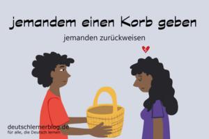 Korb-geben-Korb-bekommen-Redewendungen-deutschlernerblog
