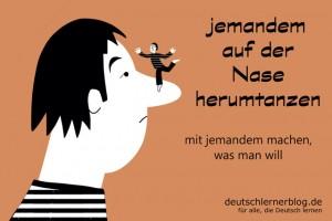 auf_der_Nase_Redewendungen_Bilder_deutschlernerblog