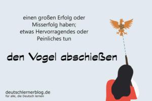 den-Vogel-abschießen-Redewendungen-deutschlernerblog