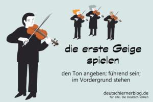 die-erste-Geige-spielen-Redewendungen-deutschlernerblog