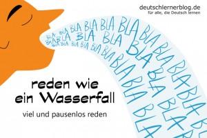 wie_ein_Wasserfall_reden_Redewendungen_Bilder_deutschlernerblog
