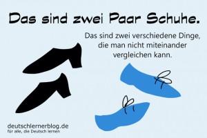 zwei Paar Schuhe - Redewendungen Bilder deutschlernerblog