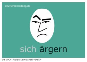 ärgern-deutsche-Verben-mit-Bildern-Deutsch-lernen-mit-Deutschlernerblog