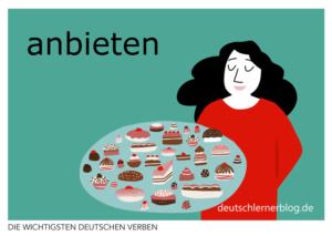 anbieten-deutsche-Verben-mit-Bildern-Deutsch-lernen-mit-Deutschlernerblog