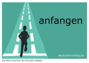 anfangen-deutsche-Verben-mit-Bildern-Deutsch-lernen-mit-Deutschlernerblog