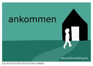 ankommen-deutsche-Verben-mit-Bildern-Deutsch-lernen-mit-Deutschlernerblog