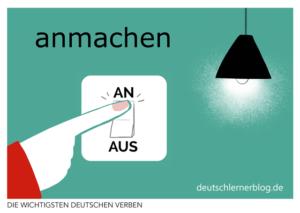 anmachen-deutsche-Verben-mit-Bildern-Deutsch-lernen-mit-Deutschlernerblog