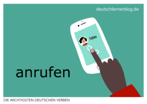 anrufen-deutsche-Verben-mit-Bildern-Deutsch-lernen-mit-Deutschlernerblog