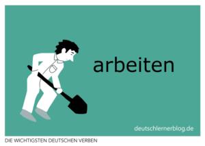 arbeiten-deutsche-Verben-mit-Bildern-Deutsch-lernen-mit-Deutschlernerblog