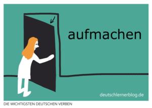 aufmachen-deutsche-Verben-mit-Bildern-Deutsch-lernen-mit-Deutschlernerblog