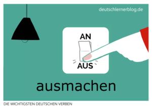 ausmachen-deutsche-Verben-mit-Bildern-Deutsch-lernen-mit-Deutschlernerblog