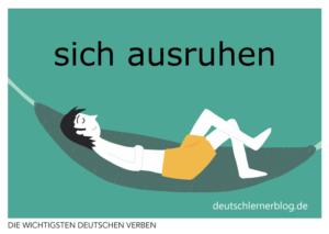 ausruhen-deutsche-Verben-mit-Bildern-Deutsch-lernen-mit-Deutschlernerblog