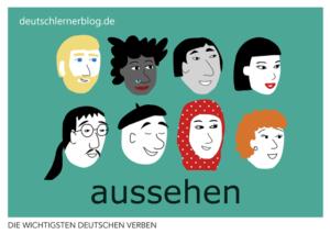 aussehen-deutsche-Verben-mit-Bildern-Deutsch-lernen-mit-Deutschlernerblog
