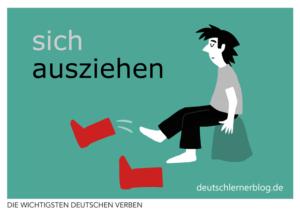 ausziehen-deutsche-Verben-mit-Bildern-Deutsch-lernen-mit-Deutschlernerblog