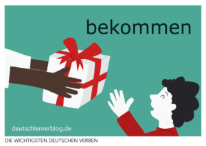 bekommen-deutsche-Verben-mit-Bildern-Deutsch-lernen-mit-Deutschlernerblog