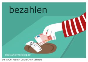 bezahlen-deutsche-Verben-mit-Bildern-Deutsch-lernen-mit-Deutschlernerblog