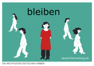 bleiben-deutsche-Verben-mit-Bildern-Deutsch-lernen-mit-Deutschlernerblog