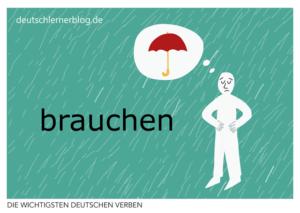 brauchen-deutsche-Verben-mit-Bildern-Deutsch-lernen-mit-Deutschlernerblog