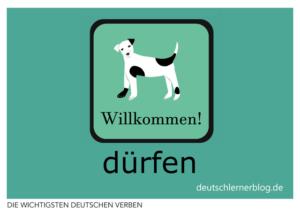 dürfen-deutsche-Verben-mit-Bildern-Deutsch-lernen-mit-Deutschlernerblog