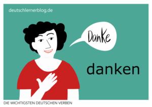 danken-deutsche-Verben-mit-Bildern-Deutsch-lernen-mit-Deutschlernerblog
