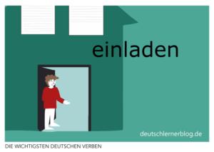 einladen-deutsche-Verben-mit-Bildern-Deutsch-lernen-mit-Deutschlernerblog
